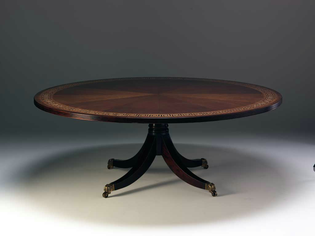 M149 - Greek Key Round Dining Table - Fine & Bespoke ...