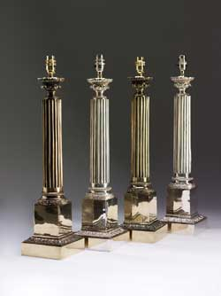 19th Century Column Lamp