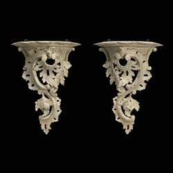 Chippendale Carved Painted Wall Bracket