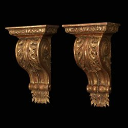 Gibbs Carved Painted Wall Bracket