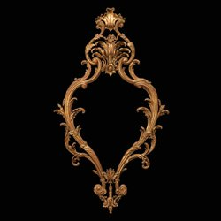 William France Carved Giltwood Pier Mirror