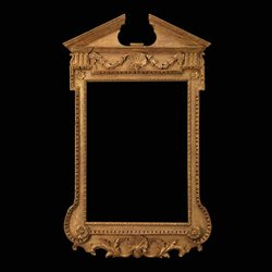 George II Carved Giltwood Architectural Mirror