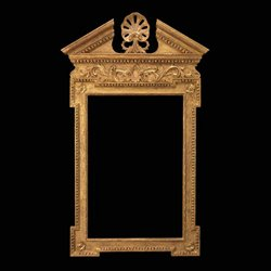 George II Carved Giltwood Architectural Shell Mirror