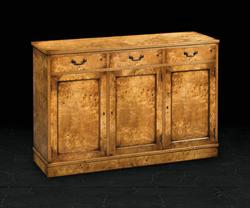 Three Door Sideboard in Burr Poplar