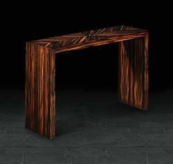 Console in Quartered Macassar Ebony