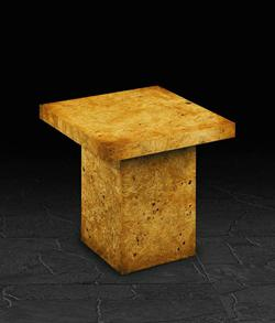 End Table in Burr Poplar