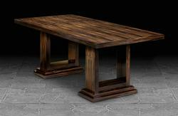 Dining Table with Deco Column in Crown Macassar Ebony