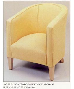 Contemporary Style Tub Chair