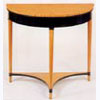 Satinwood and Ebonised Half-Round Console Table
