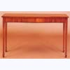 Mahogany Serpentine Console Table