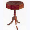 Octagonal Mahogany Drum Table with One Drawer