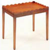 Mahogany Wavy Gallery Wine Table