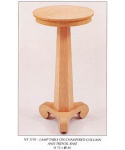Lamp Table on Chamfered Column and Trefoil Base