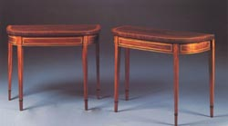 George III 'D' Shape Console or Card Table