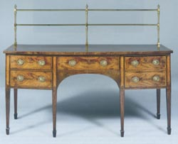 George III St Bow Fronted Sideboard