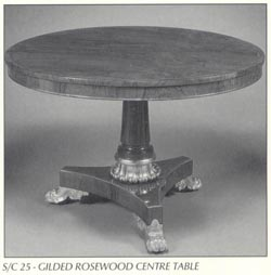 Gilded Rosewood Centre Table