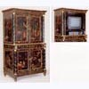 Ebonised and Gilt Chinoiserie 4-Door Cabinet