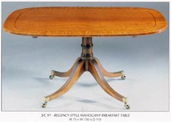 Regency Style Mahogany Breakfast Table