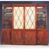 George IV Mahogany Break Front Book Case