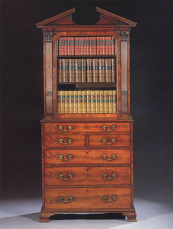Bookcase / Chest Queen Anne in Mahogany