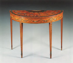 George III Painted Satinwood Console/Pier Table