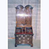 Walnut Bureau Bookcase with Twin Domed Top