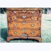 Burr Walnut Bachelor's Chest with Working Flip Top
